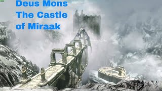 Deus Mons The Castle of Miraak Skyrim Special Edition Mod Showcase by Amras Anarion