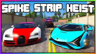 GTA 5 Roleplay - STEALING CARS WITH SPIKE STRIPS | RedlineRP