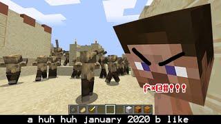 january 2020 potrayed by minecraft..