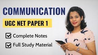 NTA UGC NET Paper 1- Communication (Crash Course)