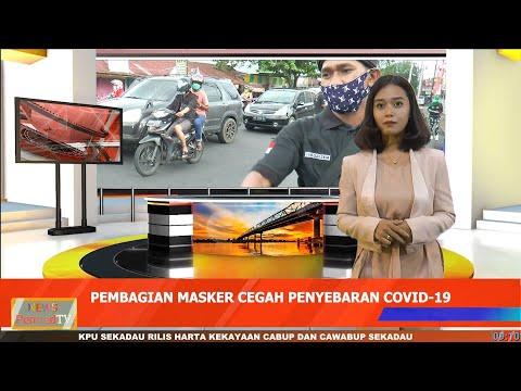 Ribuan Masker Dibagikan ke Pengendara Guna Cegah Penyebaran Covid-19 di Pontianak