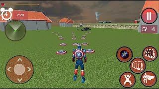 ► Super Captan Flying Robot - Iron Captain America (2 Hero combination) Escaping Gameplay