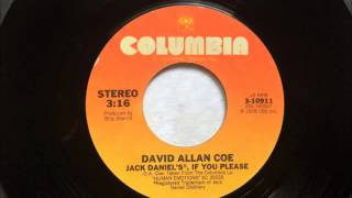 Jack Daniel's If You Please , David Allan Coe , 1979