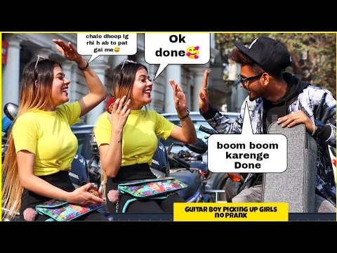 Guitar Boy Picking Up Girls no | flirting with Twist | Hilarious Reactions | SAHIL KHAN Production