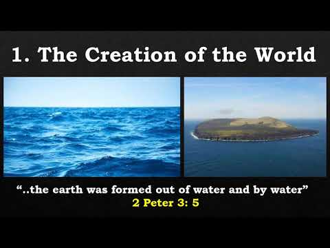 8 Biblical Types Involving Water: 1 - The Creation of the world