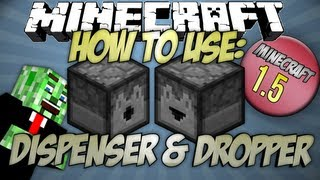 How to use the Dropper and Dispenser Minecraft