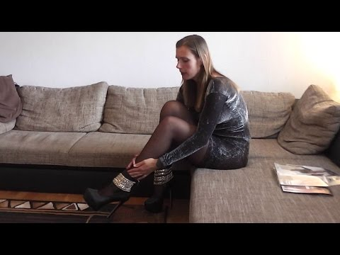 Danielas FashionCheck #035: Pumps / Kleid / Strapse  (heels, dress, suspenders+stockings)