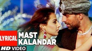 LYRICAL: Mast Kalandar | Heyy Babyy | Akshay   - YouTube