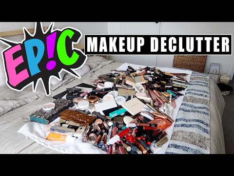 EPIC Decluttering My Entire Makeup Collection | Serein Wu