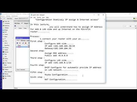 how to connect mikrotik to internet with static ip Mikrotik