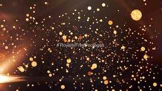 abstract golden background effects video | Golden particles overlay video | golden particles effects