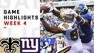 Saints vs. Giants Week 4 Highlights | NFL 2018