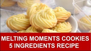 Melting Moments Cookies – Five Ingredients Easy Recipe