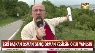 ORMANLIK ALANIN KESİLEREK OKUL YAPILMAK İSTENMESİNE TEPKİ!