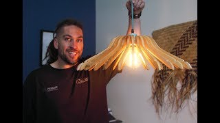 Youtube thumbnail for How to make a lampshade using coathangers