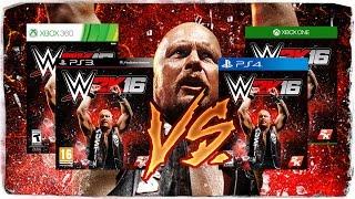 WWE 2K16 Grafikvergleich / Graphics Comparison - Current Gen (PS4 & One) vs. Last Gen (PS3 & 360)