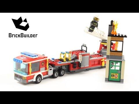 Vidéo LEGO City 60112 : Le grand camion de pompiers