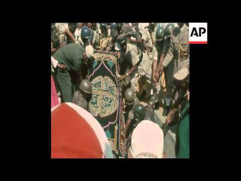 SYND 21 10 69 SOMALI PRESIDENT'S FUNERAL TAKES PLACE
