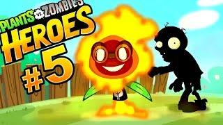 Plants vs Zombies Heroes #5 РЖАВЫЙ РАЗРЯД! РАСТЕНИЯ ПРОТИВ ЗОМБИ ГЕРОИ Веселый мультик про зомби