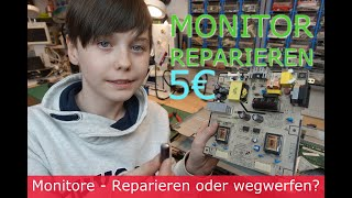 Repair: Bildschirm Reparatur/ Monitor reparieren - es zahlt sich aus und ist kinderleicht - SAMSUNG