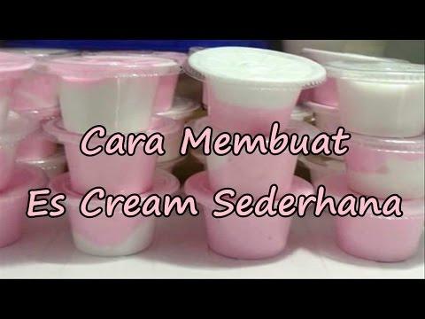 Video Resep Cara Membuat Es Cream Sederhana di Rumah