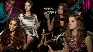 Весенние каникулы, SPRING BREAKERS Interview: Selena Gomez, Vanessa Hudgens, Ashley Benson and Rachel Korine