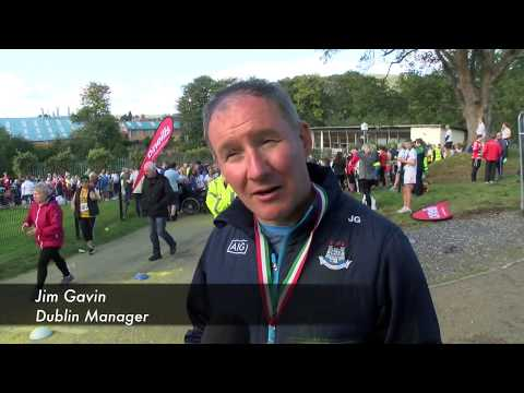 Jim Gavin runs for Anto