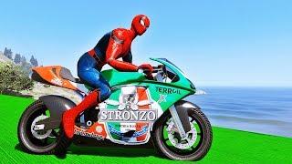 MOTOS Esportivas com HOMEM ARANHA e SUPER HERÓIS no Desafio na Rampa - IR GAMES