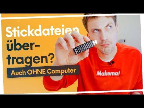 Stickdateien auf USB-Stick ÜBERTRAGEN (auch OHNE Computer) 🤓✂️