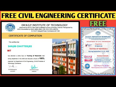 Civil engineering-course with Certificate | Free | how to get civil ...