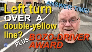 Is it okay to drive over a double-yellow line?