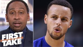 Stephen A.'s choosing Steph Curry over Magic Johnson sparks a heated debate | First Take