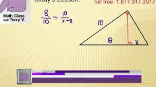 Right Triangle Geometric Mean: Viewer Challenge