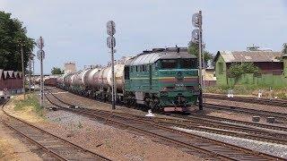 Секция тепловоза 2ТЭ116-1435 на ст. Мозырь 2 / 2TE116-1435 unit at Mozyr station 2