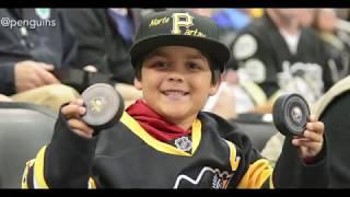 NHL Fans Receiving Souvenirs