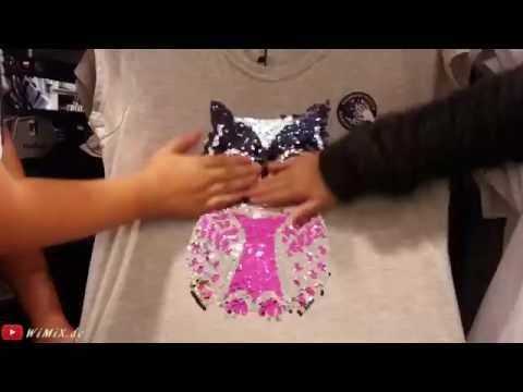 Two Way Sequin T Shirt change theme scene design motif wechselt Motiv