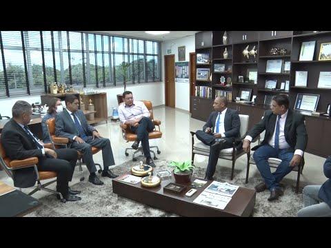 Presidente da ALMT recebe vereadores de Cuiabá