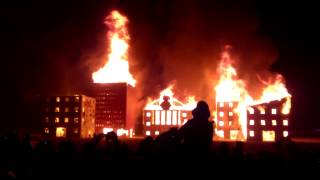 Burning man 2012 - Walk across the playa to Burn Wall Street