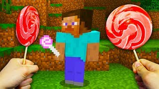 REALISTIC MINECRAFT - STEVE GOES TO CANDYLAND! 🍭