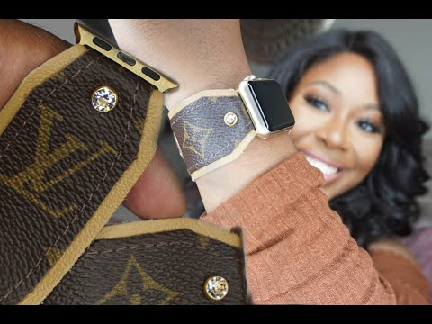 Authentic Louis Vuitton Upcycled Apple Watch Band | Spark*l Bands