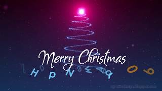 Snowy Christmas Tree Light And New Year 2019 Greeting Animation Background And Alpha