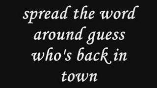 the boys are back in town lyrics