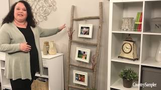 Creative DIY Photo Display | A Country Sampler DIY Video