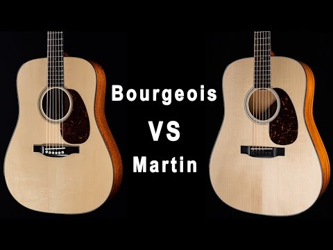 GUITAR COMPARISON Collings Guitar Martin Co Bourgeois guitar