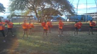 preview picture of video 'Ewa Beach Crush cheerleader practice 2012.'