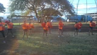 preview picture of video 'Ewa Beach Crush cheerleader practice 2012.'