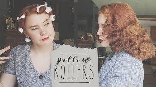 Floofy Vintage Hair! || Pillow Rollers Tutorial