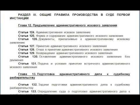 Глава 12  Предъявление административного искового заявления, содержание КАС 21 ФЗ РФ статьи