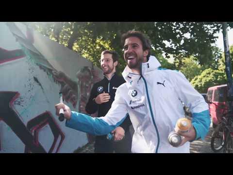 Street artists at work - BMW i Motorsport.