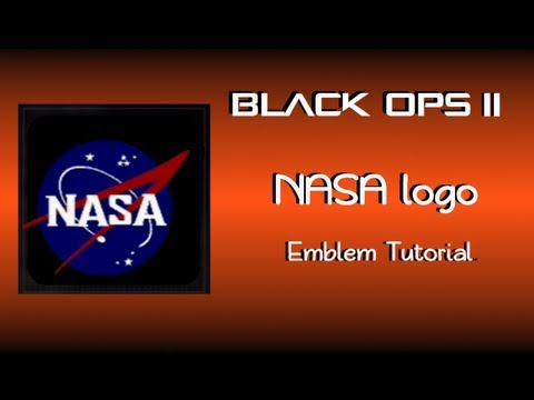 Black Ops 2 - Emblem Tutorial - NASA logo